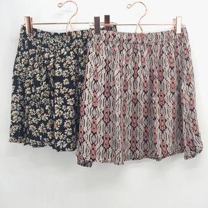Brandy Melville Lot of 2 Mini Skirts